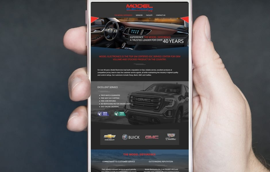 Automotive Parts Top Website Design Firm Company
