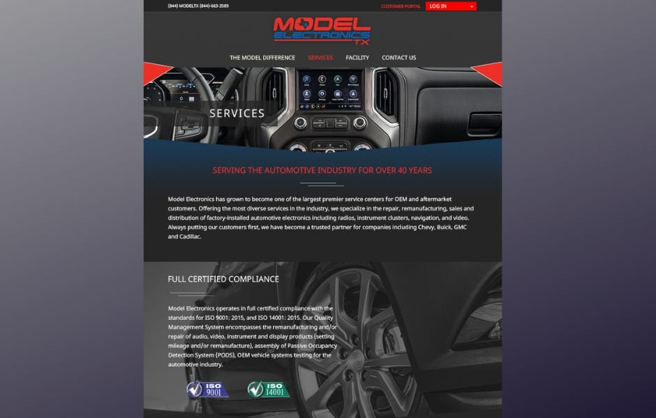 Automotive Electronics Best Website Design Company Rapunzel Creative