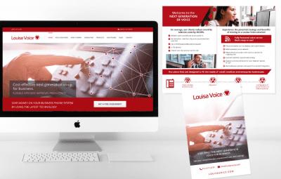 Voice over IP technology company marketing branding